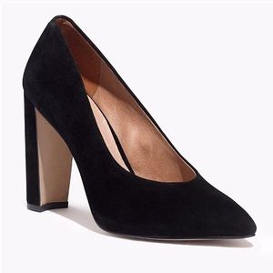 Madewell NEW Hanne Heel Black Suede Pumps Size 8.5